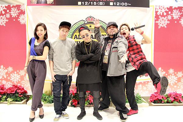 ●審査員&MC  ERI(杏仁豆腐) HILOMU(ex-RSP) SHUHO(HOUSE OF NINJA) もりち(PaniCrew) MC IMAJINE(梅棒)
